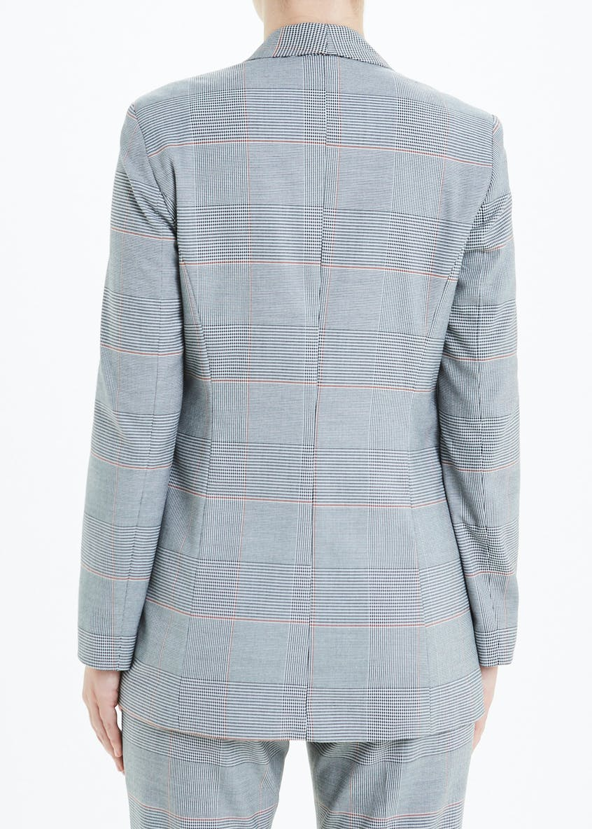 Grey Check Suit Jacket