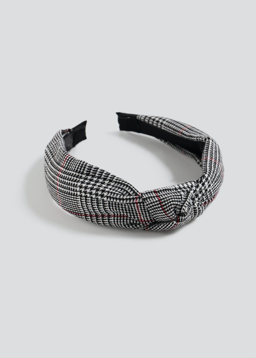 Checked Knot Headband