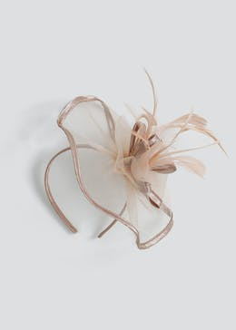 Satin Trim Feather Fascinator