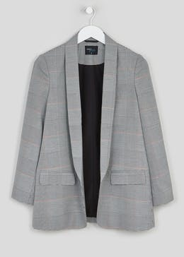 Papaya Petite Check Suit Jacket