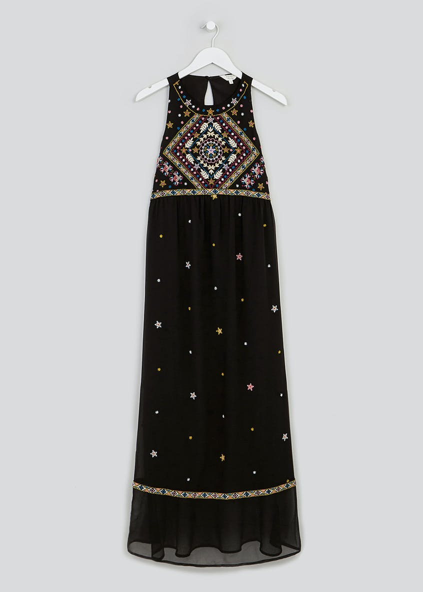 Falmer Star Embroidered Maxi Dress