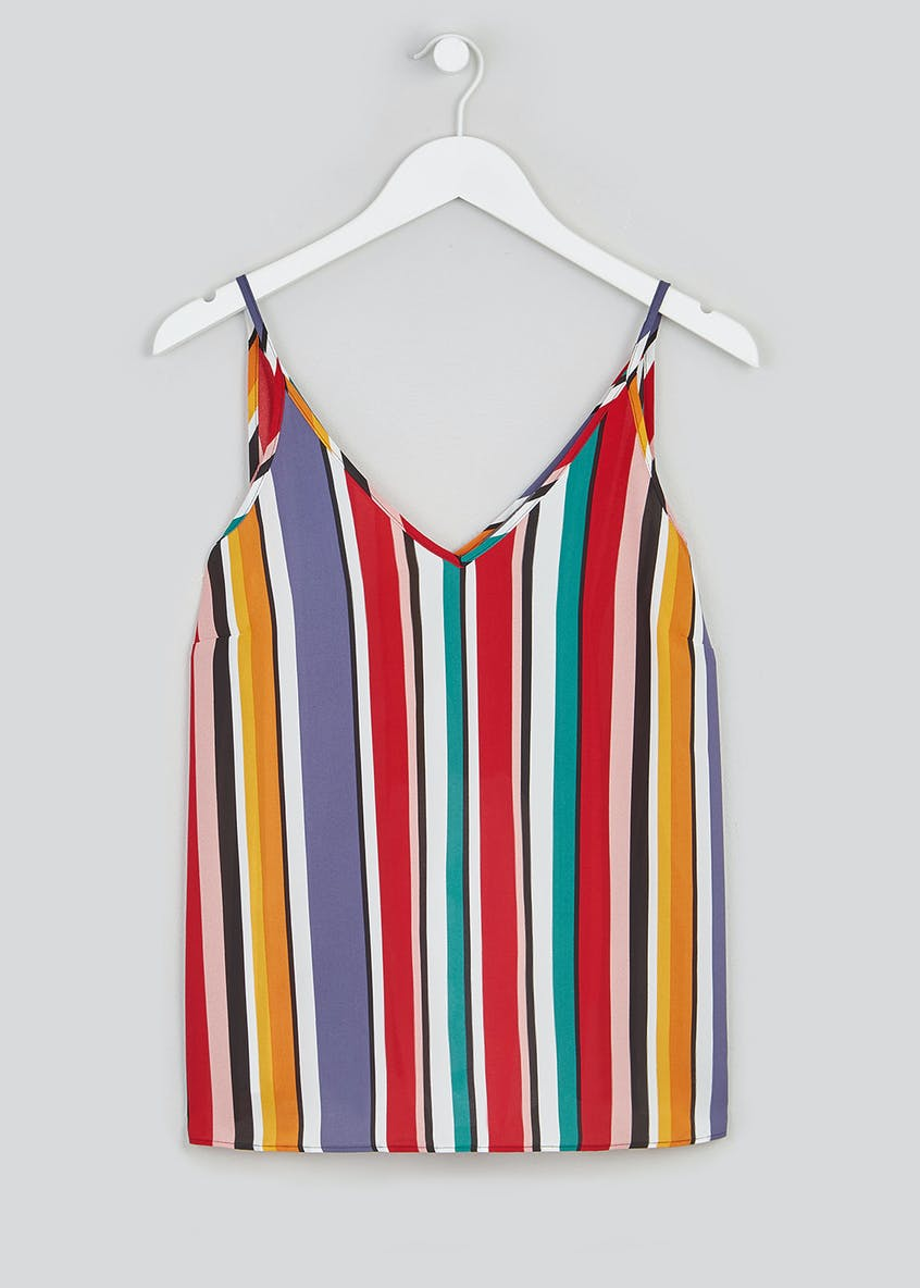 Papaya Petite Stripe V-Neck Cami