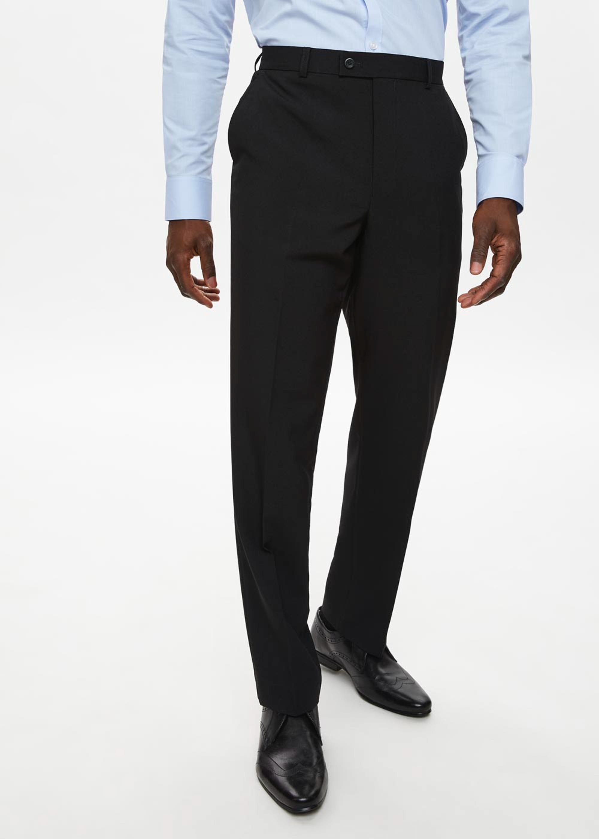Taylor & Wright Regular Fit Formal Trousers Black sagPhL