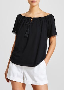 Lace Trim Gypsy Top