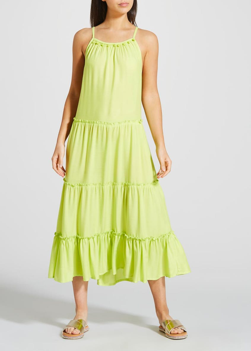 Tiered Midi Swing Dress