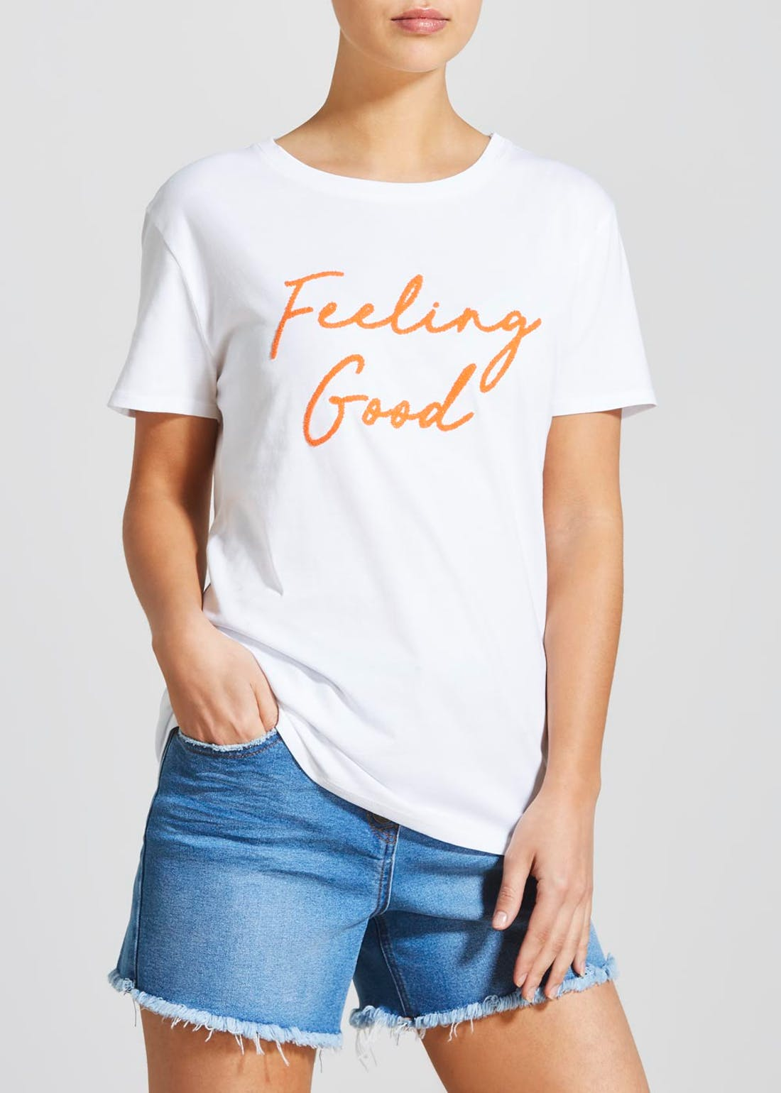 Feeling Good Slogan T-Shirt
