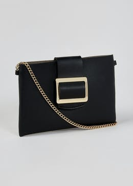 Buckle Envelope Cross-Body Bag