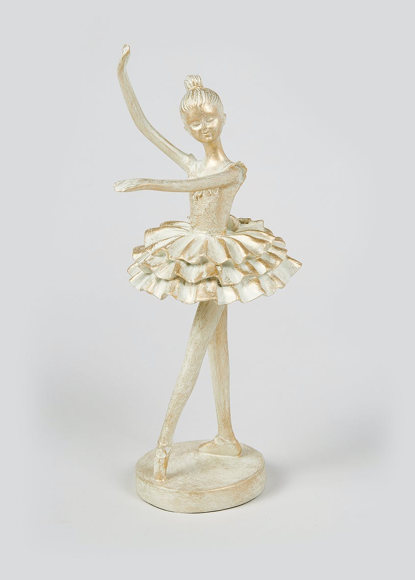 Resin Ballerina Sculpture (30cm x 10cm x 10cm)