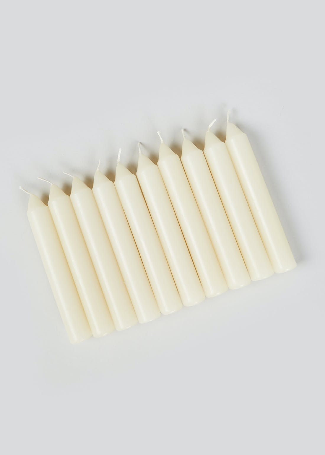 Pack of 10 Dinner Candles (14cm x 2cm)