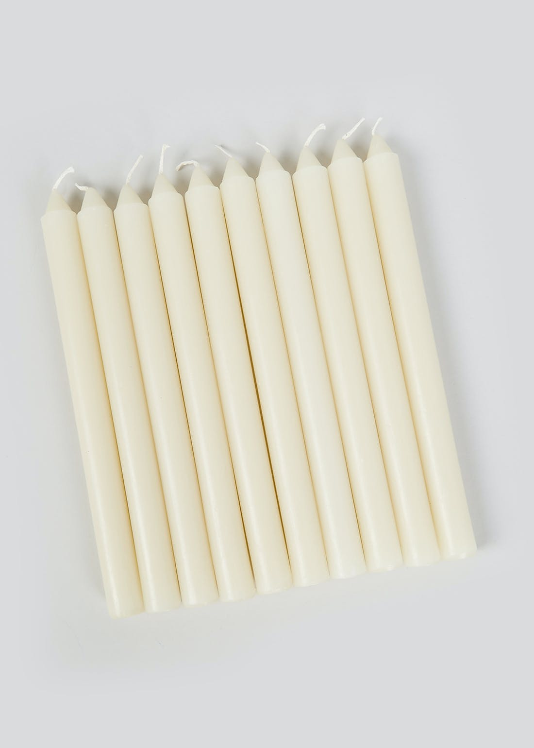Pack of 10 Tall Dinner Candles (24cm x 2cm)