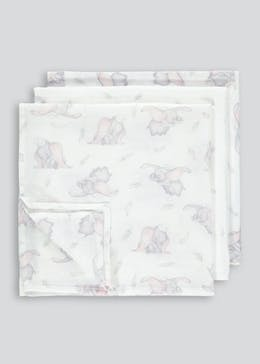 Dumbo 3 Pack Muslin Cloths