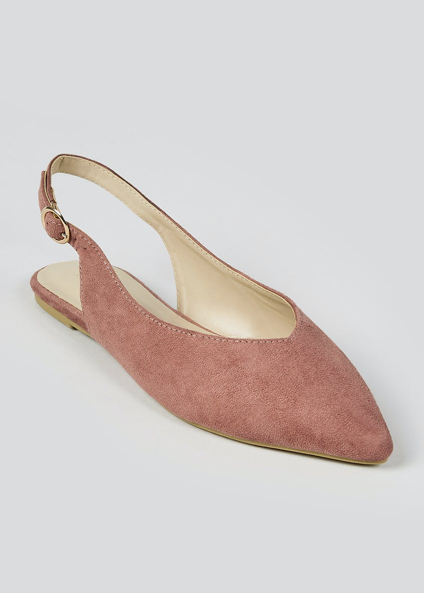 Sling Back Pointed Flat Shoes