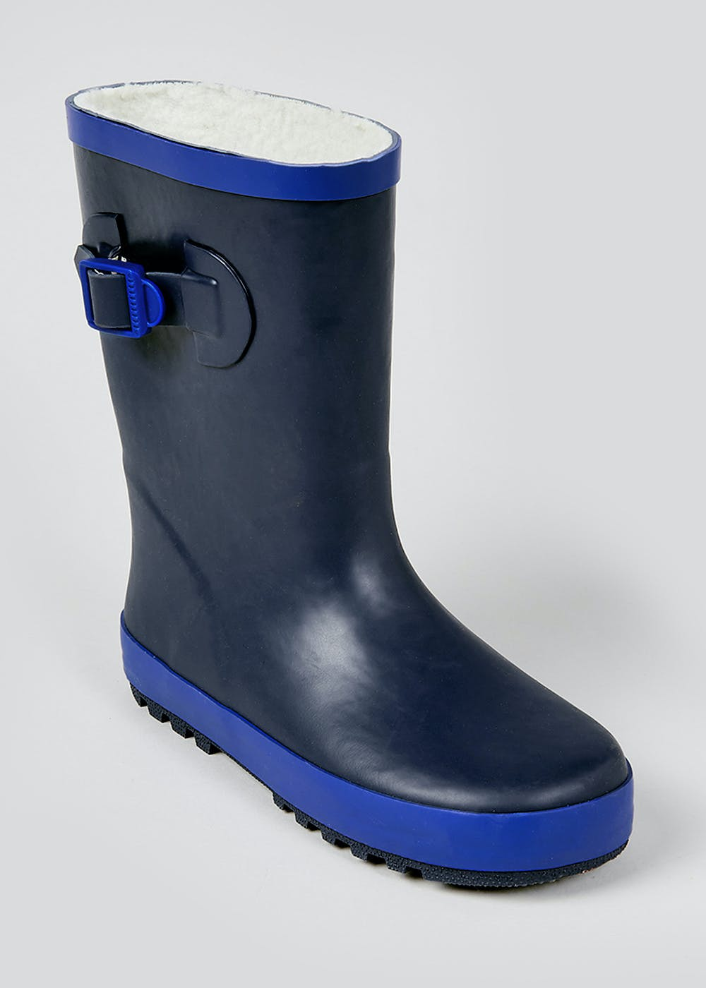 Kids Navy Rubber Wellies (Younger 10