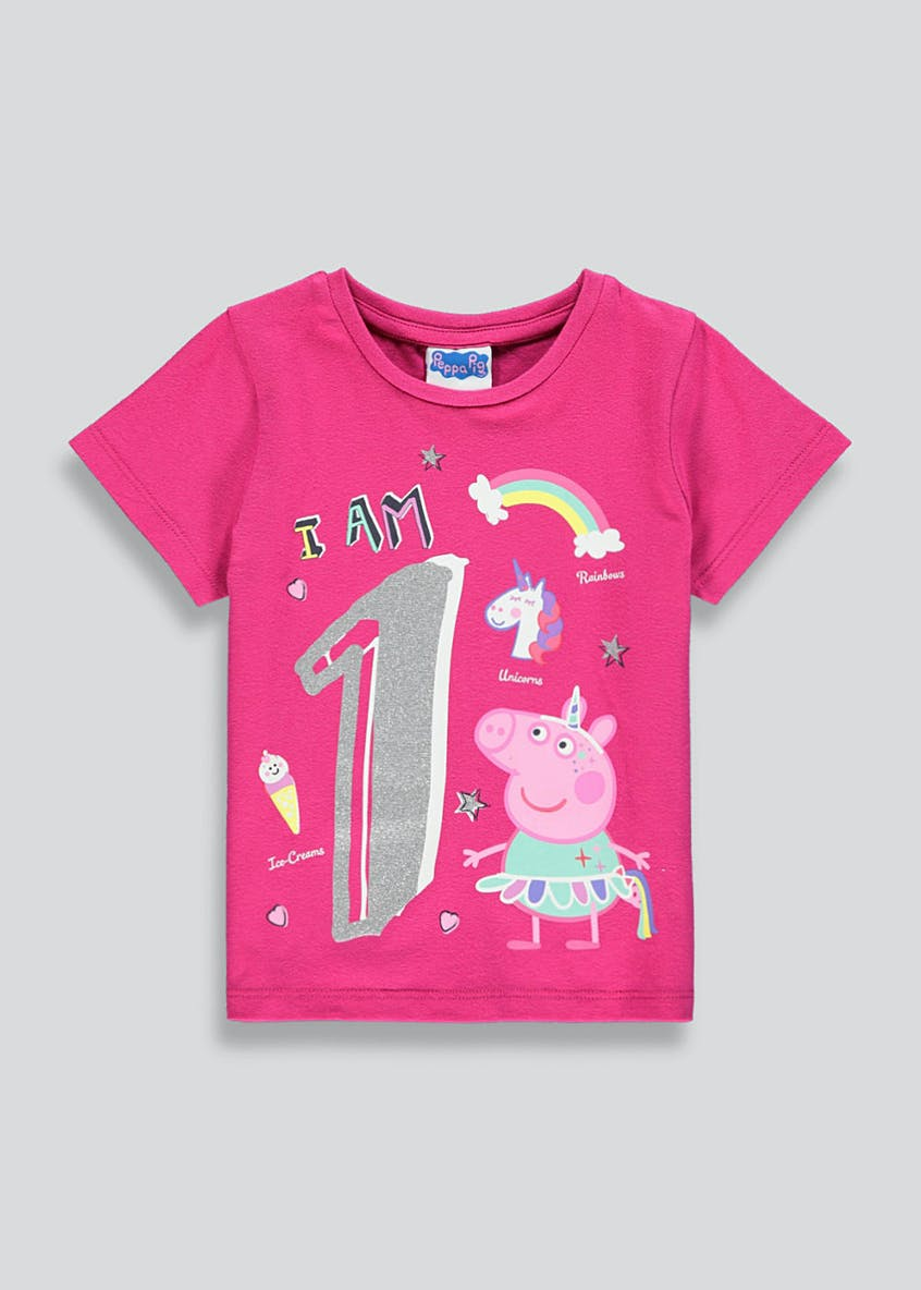 Kids Peppa Pig I am 1 T-Shirt (1yr)