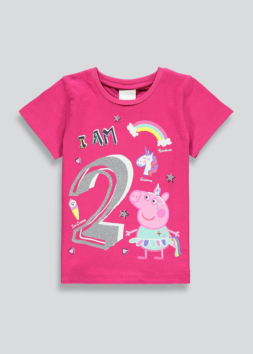Kids Peppa Pig I am 2 T-Shirt (2yrs)