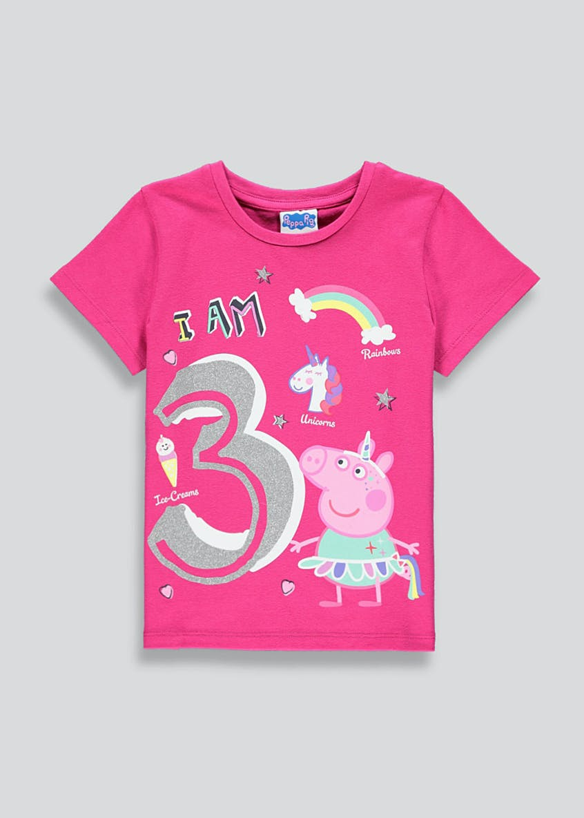 Kids Peppa Pig I am 3 T-Shirt (3yrs)
