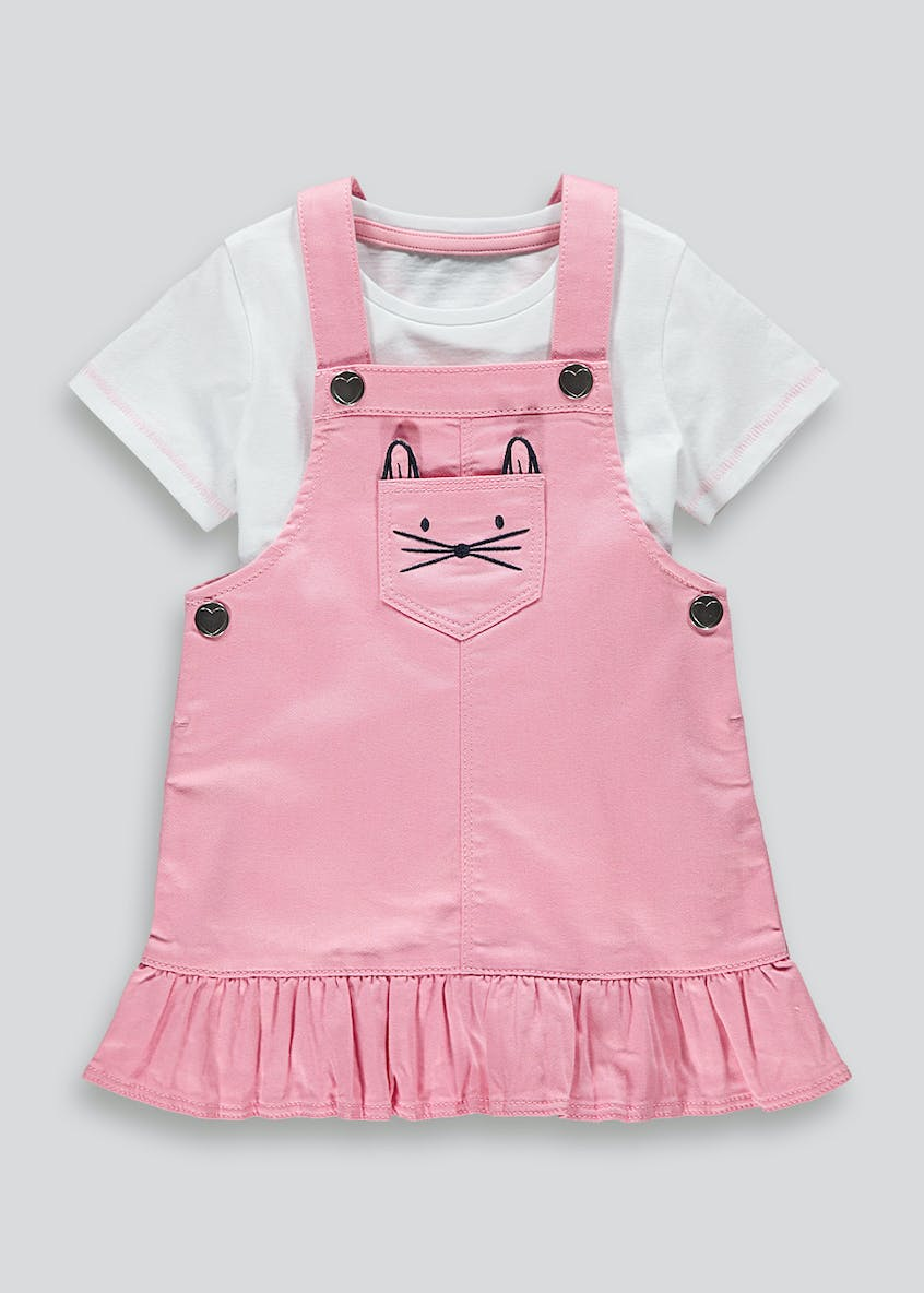 Girls Bunny Pinafore & T-Shirt Set (9mths-6yrs)
