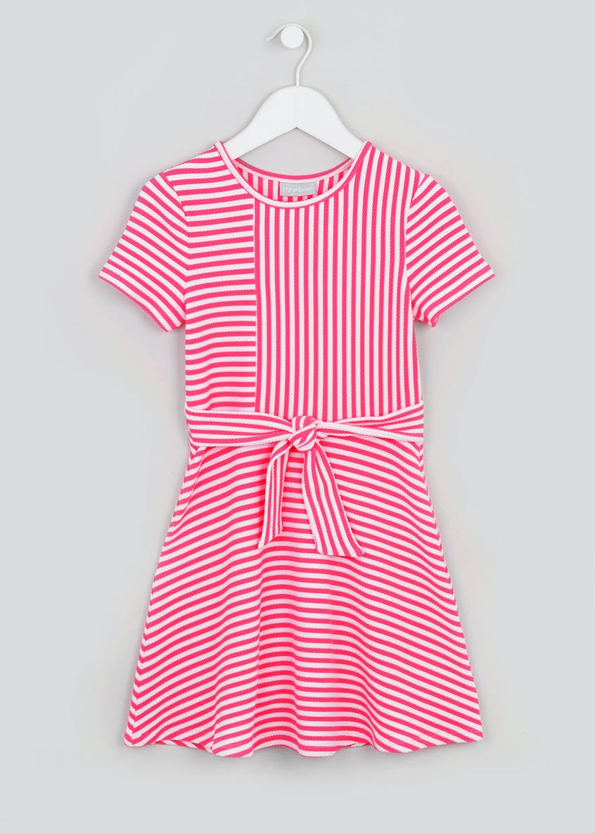 Girls Stripe Tie Waist Dress (4-13yrs)