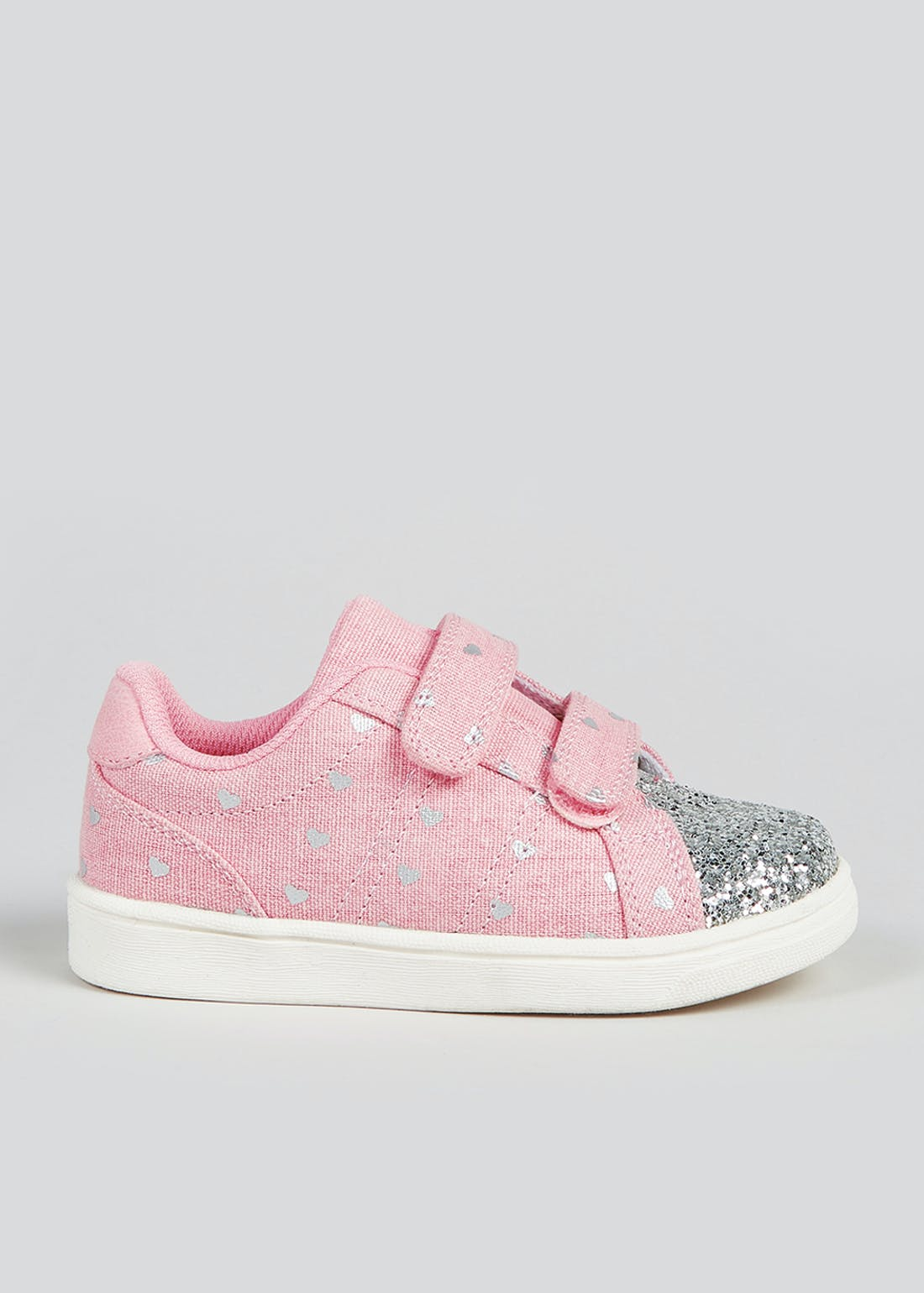 Girls Heart Riptape Cupsole Trainers (Younger 4-12)