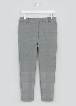 Papaya Petite Check Slim Fit Suit Trousers (29 Inch Leg)