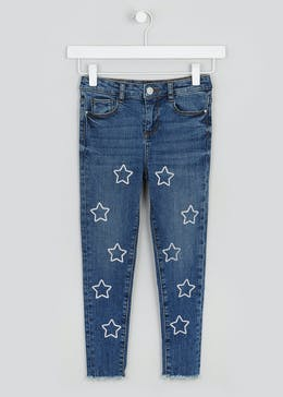 Girls Glitter Star Jeans (4-13yrs)