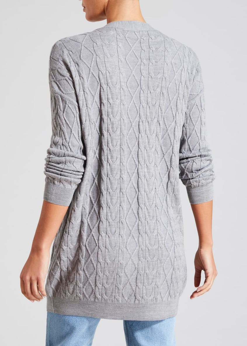 Baby Cable Longline Cardigan