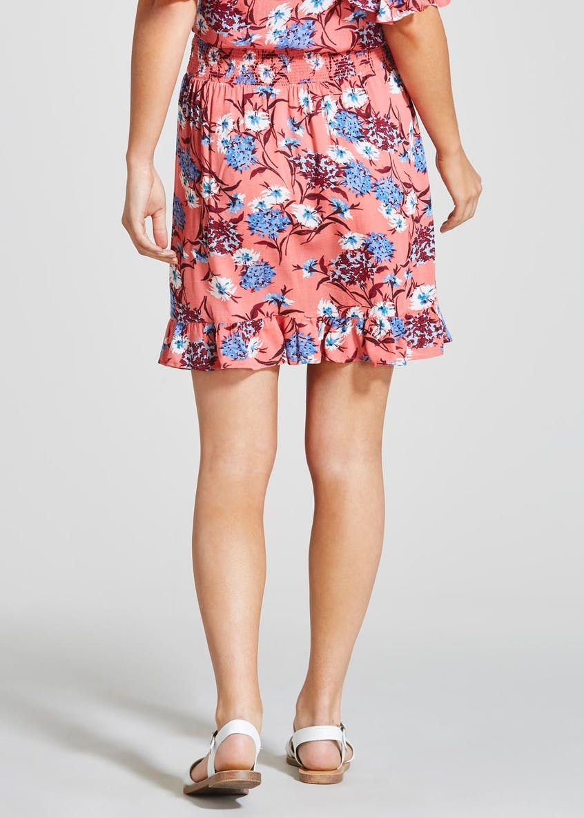 Floral Frill Co-Ord Wrap Skirt