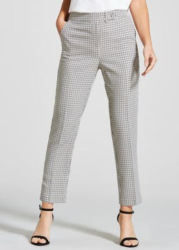 Check Tapered Trousers