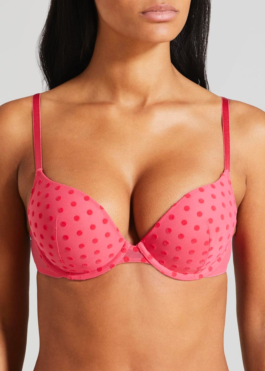 Super Enhance Spot Flock Bra