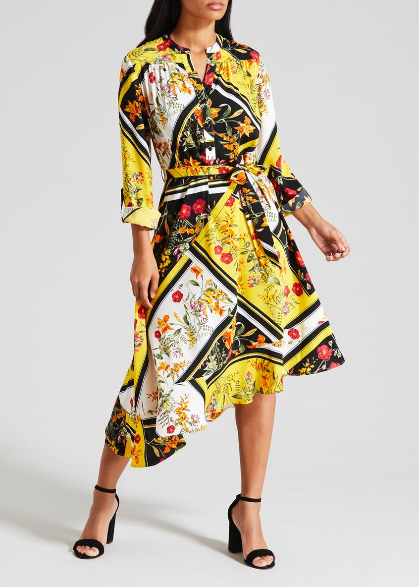 Soon Tile Print Asymmetric Skirt Dress