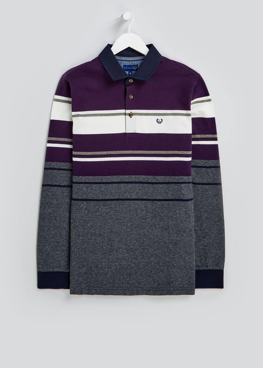 Lincoln Stripe Rugby Polo Shirt