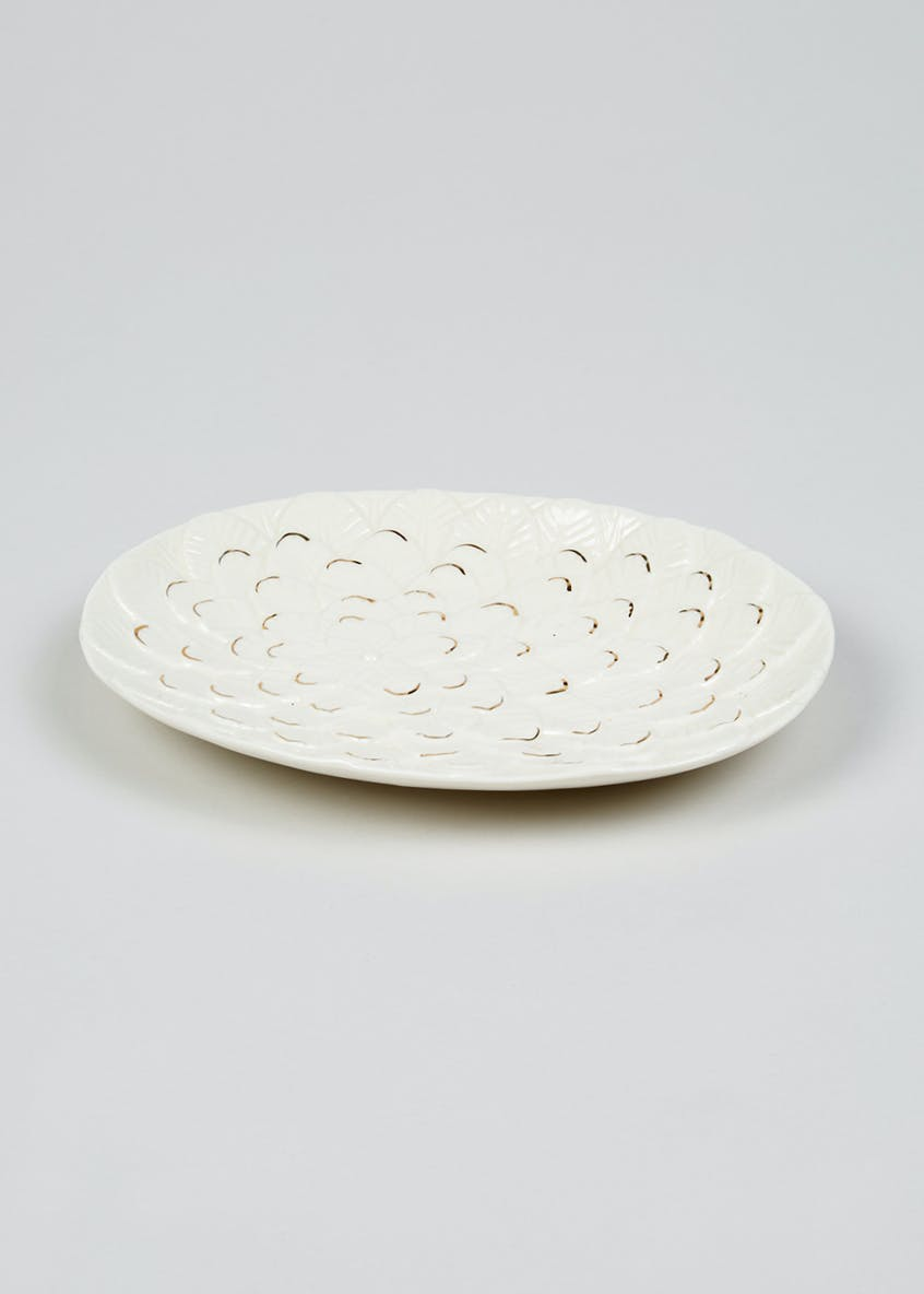 Feather Ceramic Dish (20cm x 15cm)