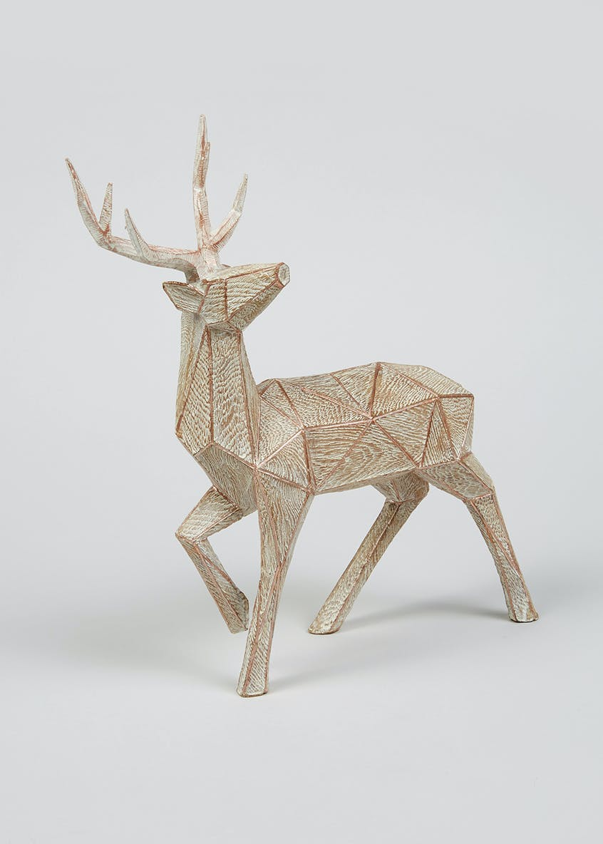 Decorative Geometric Stag (35cm x 30cm x 10cm)