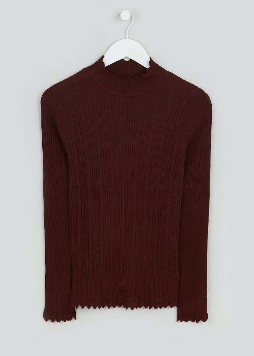 Frill Funnel Neck Jumper