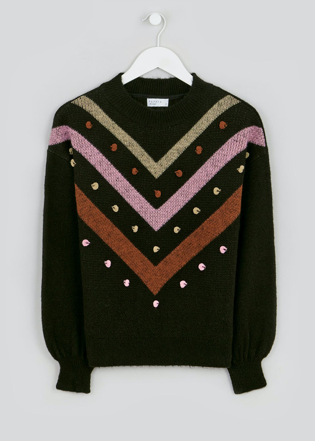 Bobble Chevron Jumper