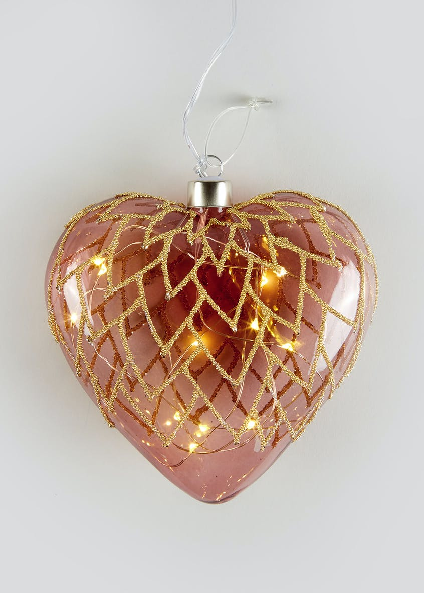 LED Hanging Heart (15cm x 14cm)