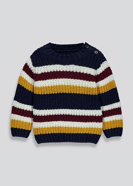 Kids Stripe Knitted Jumper (9mths-6yrs)