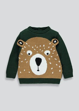 Boys Bear Knitted Jumper (9mths-6yrs)