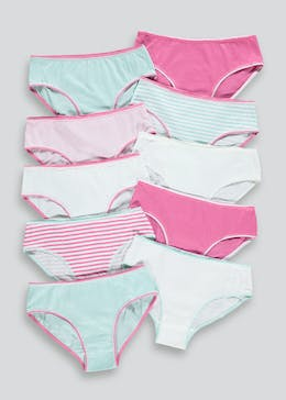Girls 10 Pack Knickers (4-13yrs)