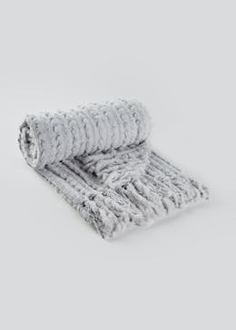 Chenille & Faux Fur Throw (150cm x 130cm)