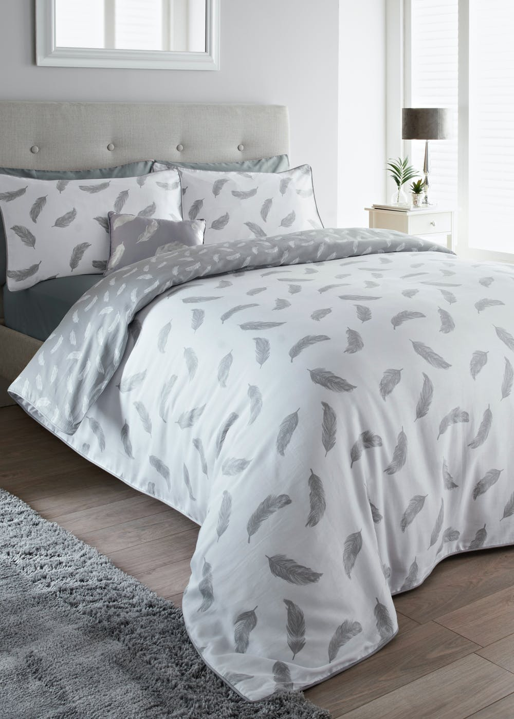 100 Percents Cotton Sateen Feather Duvet Cover by Matalan