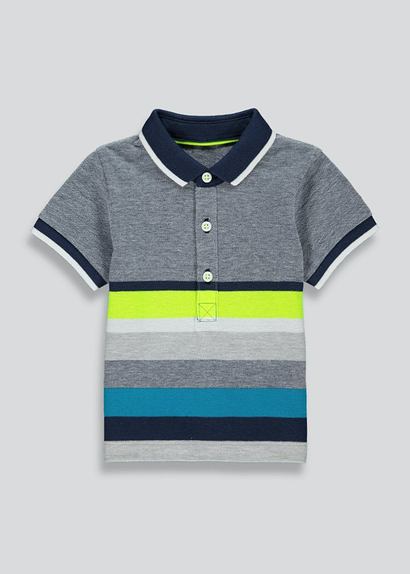 Boys Short Sleeve Stripe Polo Shirt (9mths-6yrs)
