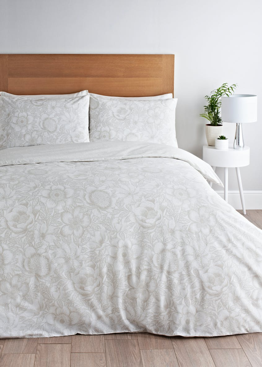 Etched Floral Duvet Cover