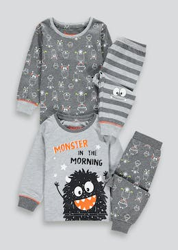 Kids 2 Pack Monster Pyjamas (9mths-5yrs)