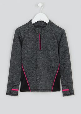Girls Souluxe Half Zip Sports Sweatshirt (4-13yrs)