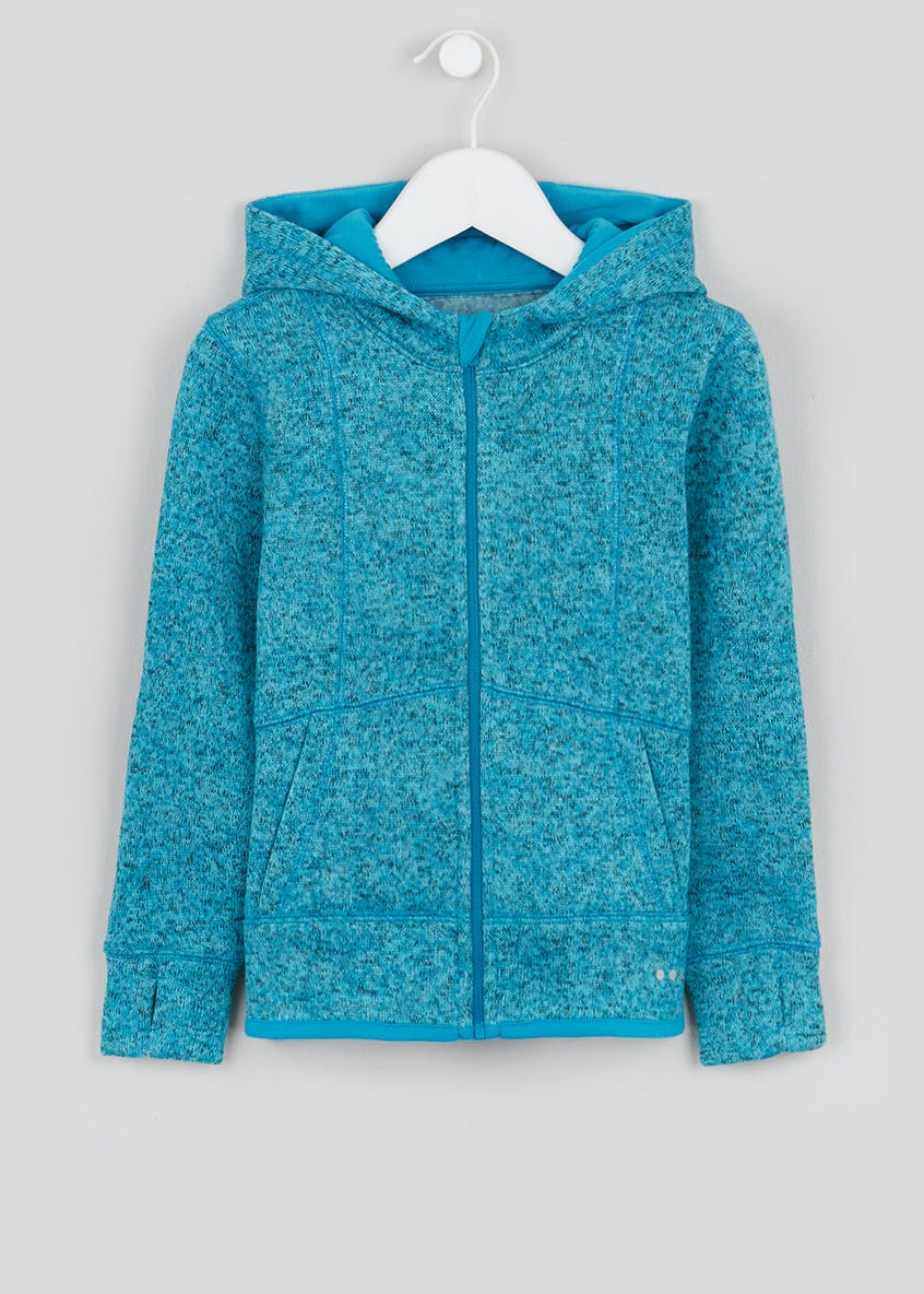 Girls Souluxe Blue Knitted Sports Fleece (4-13yrs)
