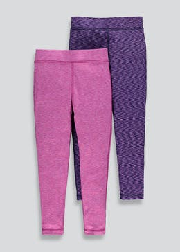 Girls Souluxe 2 Pack Space Dye Leggings (4-13yrs)