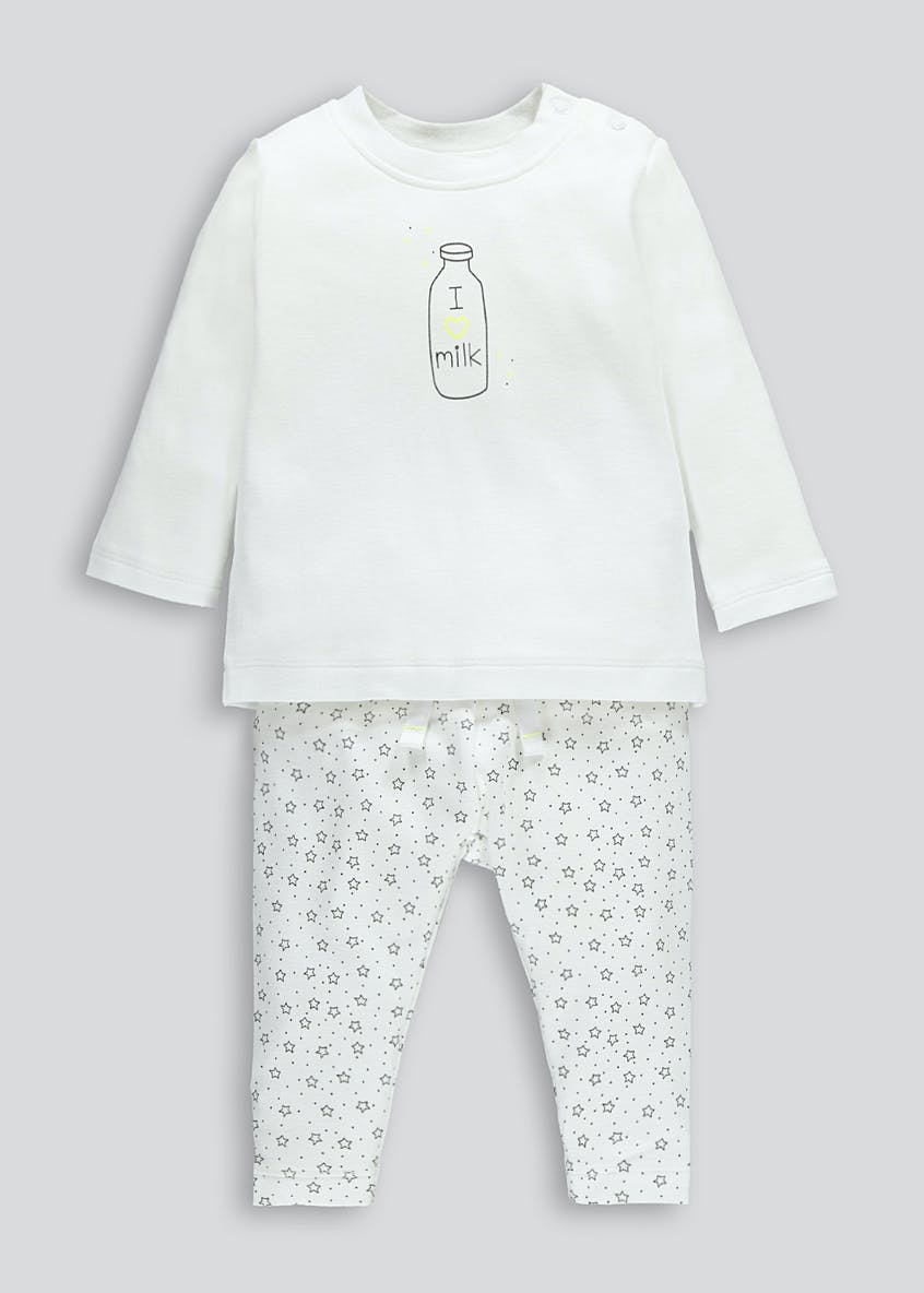 Unisex I Love Milk Slogan Set (Newborn-18mths)