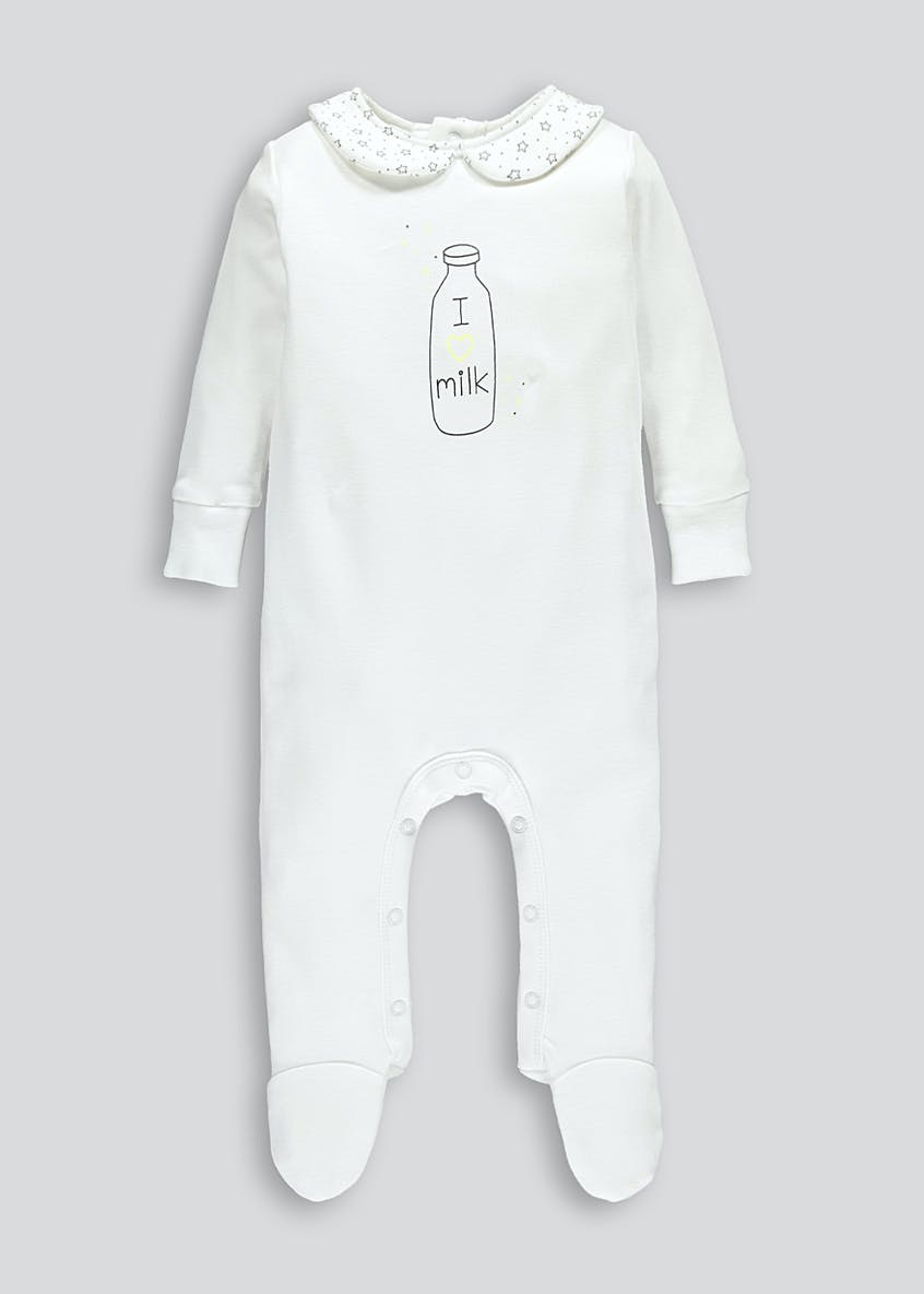 Unisex I Love Milk Baby Grow (Tiny Baby-18mths)