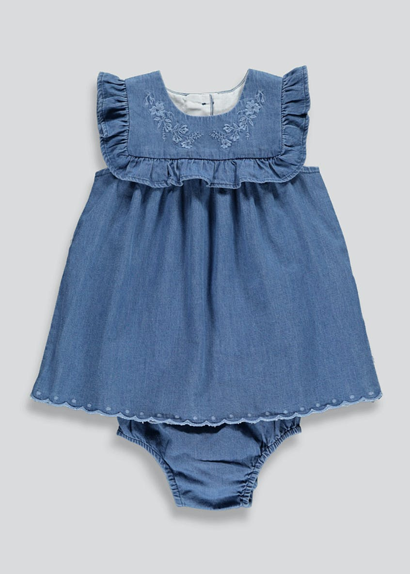 Girls Denim Dress & Knickers Set (Newborn-18mths)